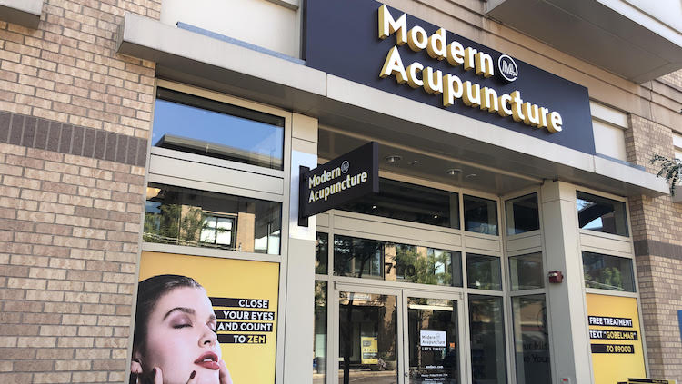 modern acupuncture storefront